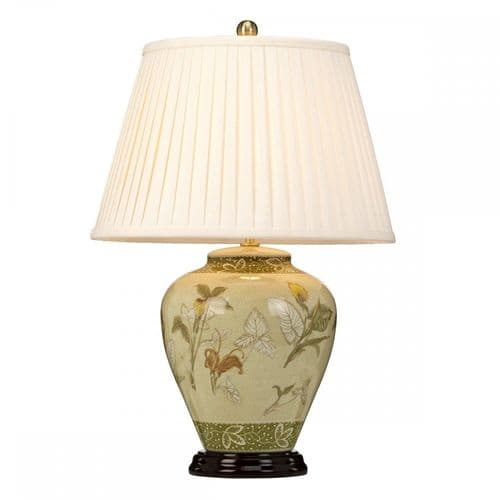Elstead ARUM LILY/TL Arum 1 Light Table Lamp Aged Brass